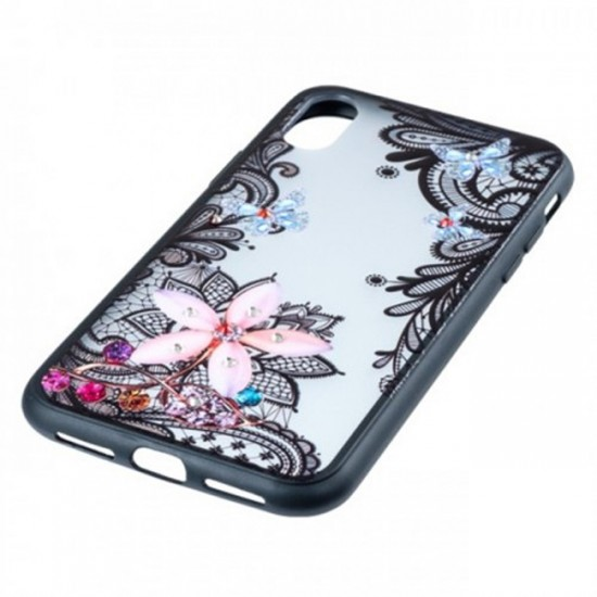 Back Case BEAUTY with Stones - Samsung Galaxy Note10+, Flower with Butterflies