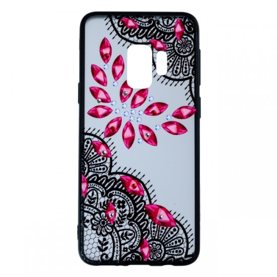 Back Case BEAUTY with Stones - Samsung G950 Galaxy S8, Red Stones