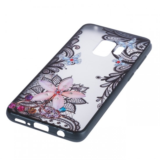 Back Case BEAUTY with Stones - Samsung G950 Galaxy S8, Flower with Butterflies