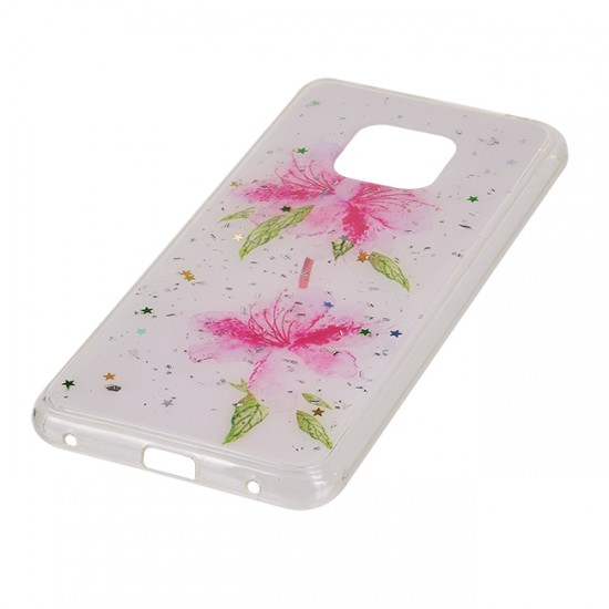 Back Case Fashion with design - Huawei P20 Lite, Pink flowers
