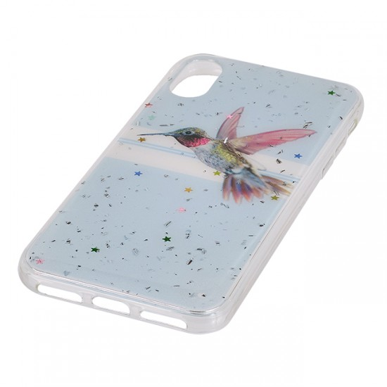 Back Case Fashion with design - iPhone X/ XS, Humming bird