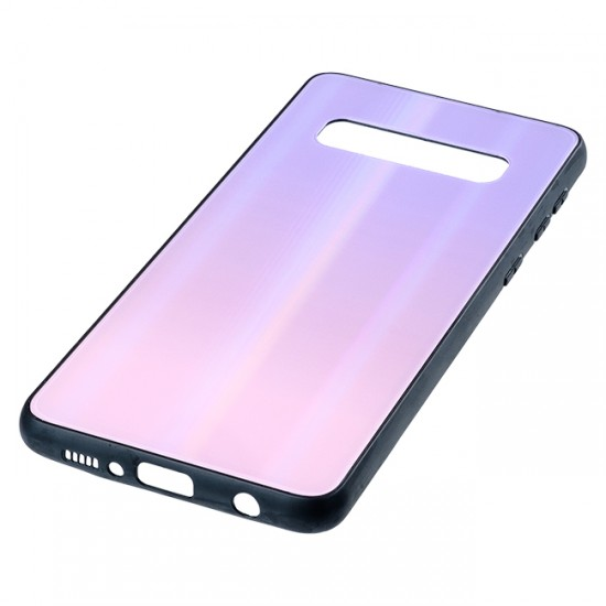Back Cover bSmart Shiny Glass Case - Samsung G973F Galaxy S10, Pearl violet