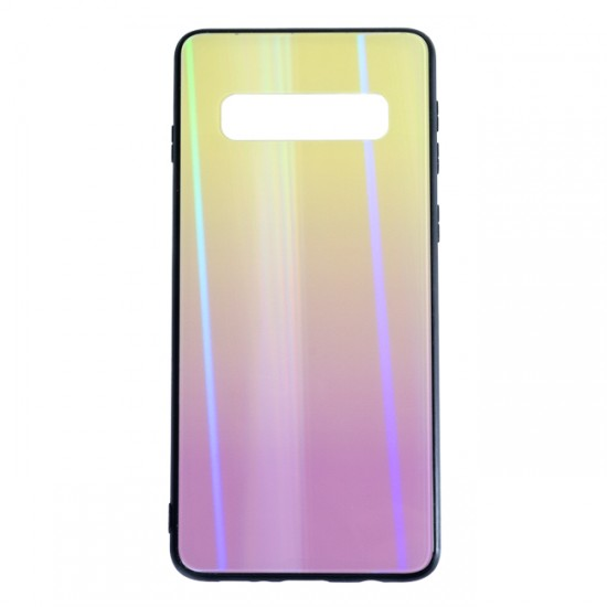 Back Cover bSmart Shiny Glass Case - Samsung G973F Galaxy S10, Yellow and purple