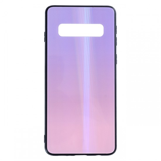 Back Cover bSmart Shiny Glass Case - Samsung G975F Galaxy S10+, Pearl violet