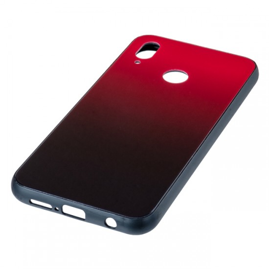 Back Cover Glass Case - Huawei Honor View 20, Red and black