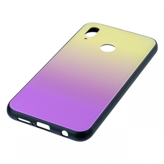 Back Cover Glass Case - Huawei Honor View 20, Yellow and purple