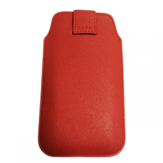 Case pouch MBX ECO - Lenovo A680 and similar size, Red