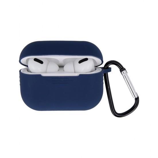 Калъф силиконов за Airpods Pro слушалки bSmart, Тъмносин