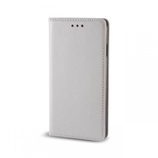 Book Case Flip Cover MBX Magnet - Huawei Ascend Y6 II, Silver