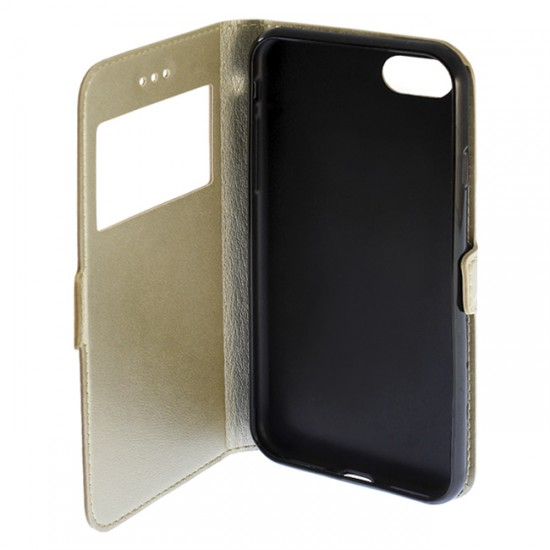 Bookcase iPAKY with 1 window - iPhone 6 (4.7), Gold