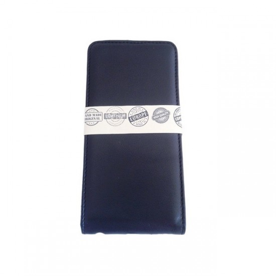 Book Case Cover MBX Real Leather - iPhone 6 (5.5), Dark Blue