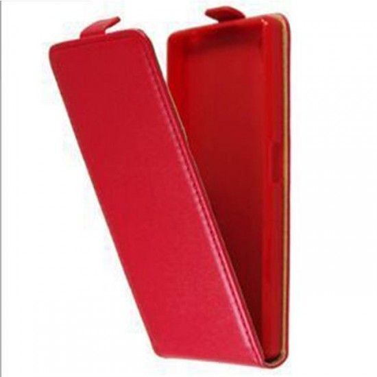 Flip Case Cover vertical MBX Flexi - Sony Xperia E5, Red