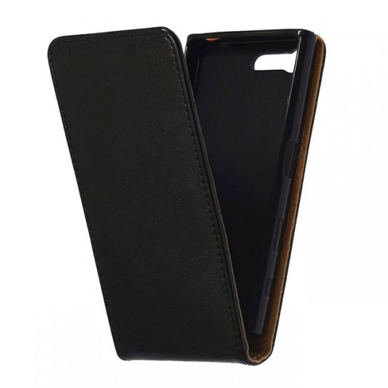 Flip Case Cover vertical MBX Flexi - Sony Xperia X Compact, Black