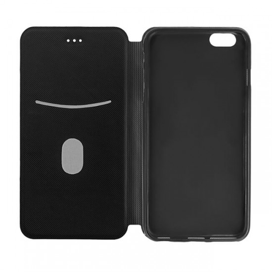 Book Case Cover MBX Smart Solid - Samsung G955 Galaxy S8 Plus, Black