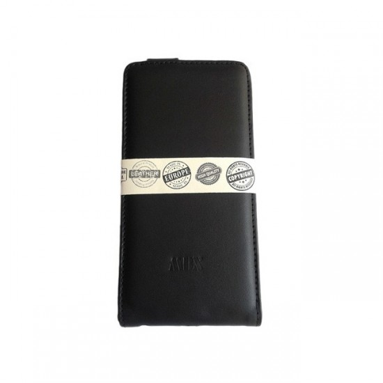 Book Case Cover MBX Real Leather - iPhone 6 (5.5), Black