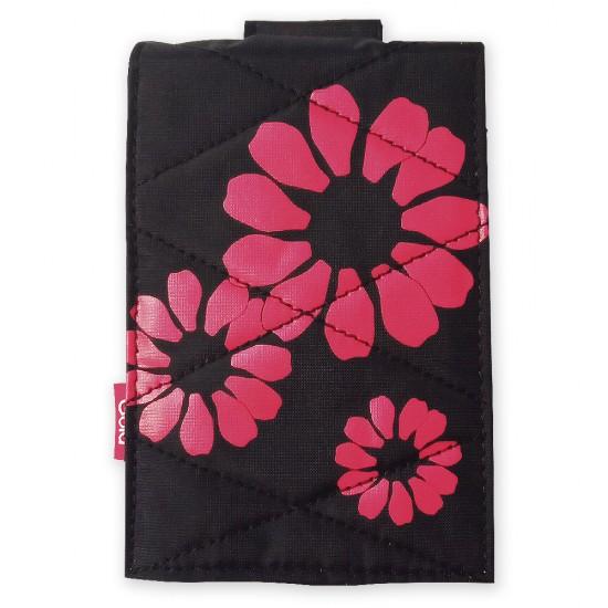 Калъф универсален джоб с връзка MBX, Многоцветен, Червени цветя
