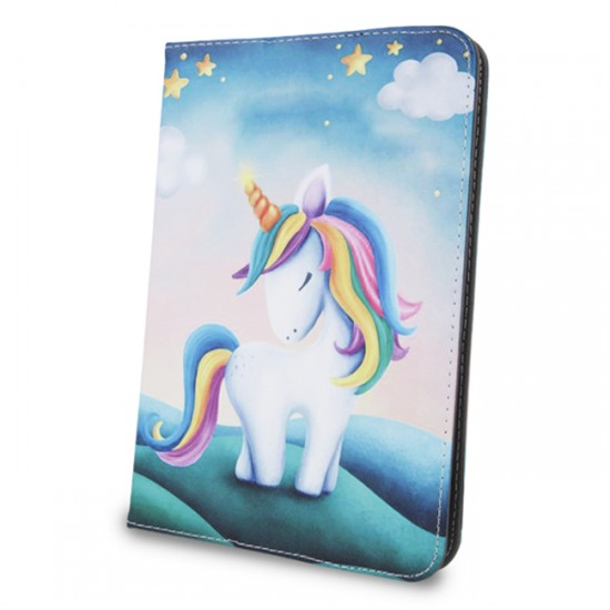 "MBX Fashion Universal Case 7-8 "", Multicolour, Colorful Unicorn"