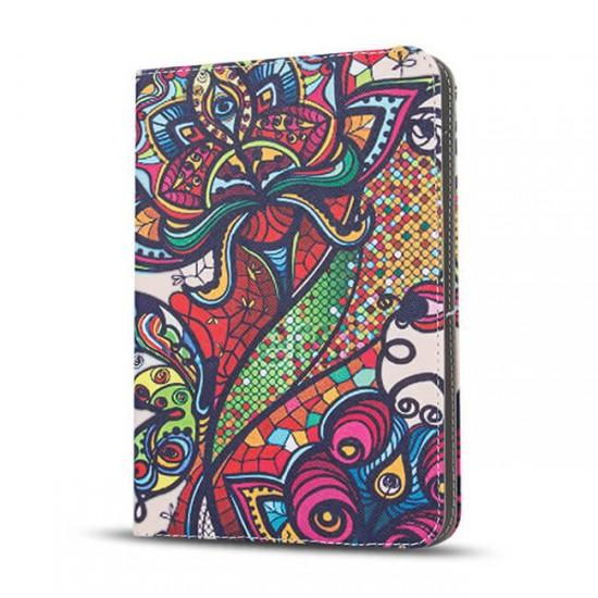 """Калъф за таблет MBX Fashion универсален 9-10"""" инча, Многоцветен, Абстрактни цветя"""