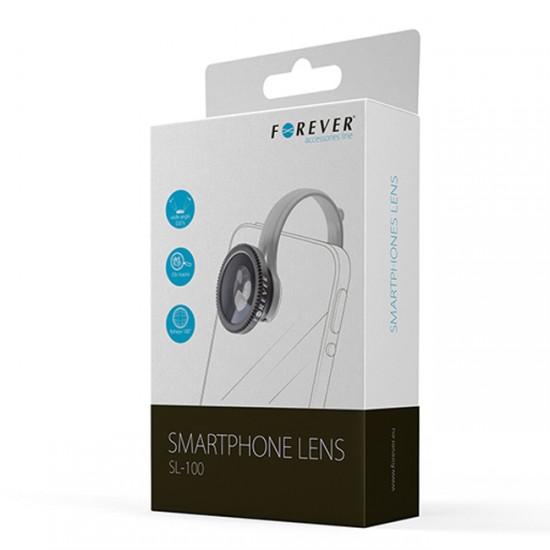 Обектив за смартфон Forever SL-100 3в1 комплект, Черен