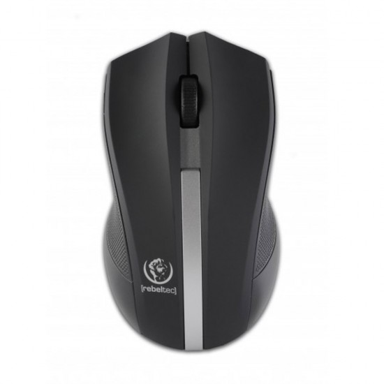 Оптична безжична мишка Rebeltec Galaxy, Черна/Сребристо