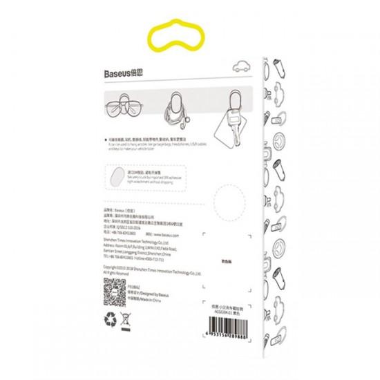 Baseus Small Hook Plastic Hanger, 4 pieces, Black