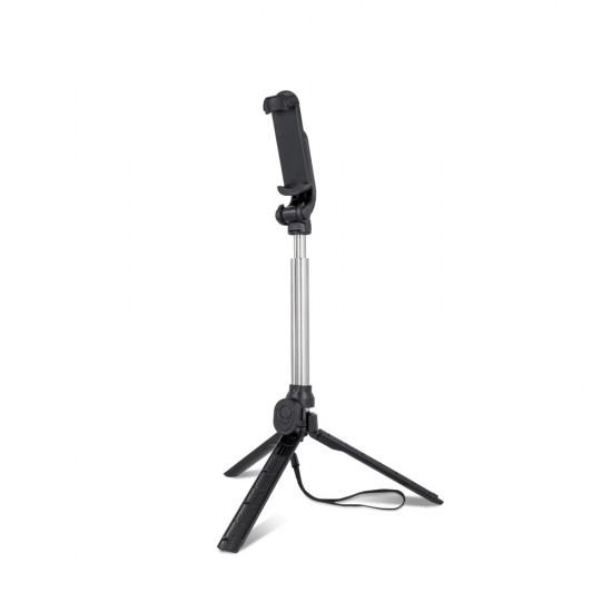 Селфи стик Setty Трипод с Bluetooth, Черен