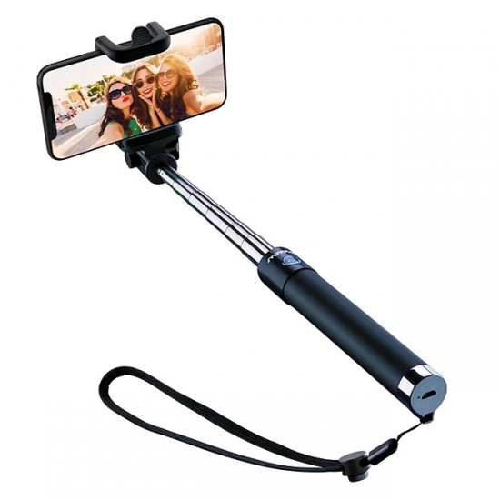 Selfie Stick Bluetooth M22, Черен