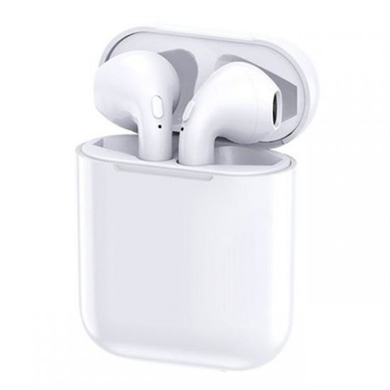 Bluetooth Wireless Headset i9S for iPhone type Airpods HQ, White