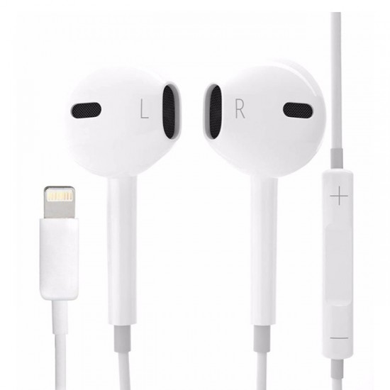 Earphones for iPhone 7/8 / XS Lighting bluetooth MQ, White