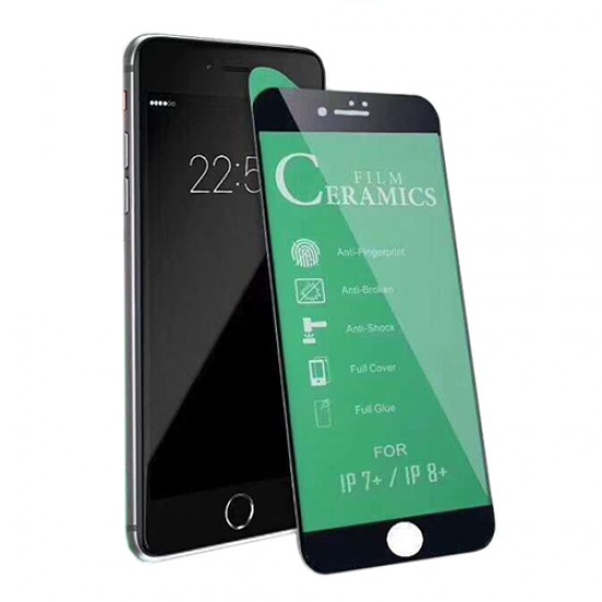 Glass Protector for display Ceramic 9H 3D Full Cover - iPhone 7/8 (4.7), Black