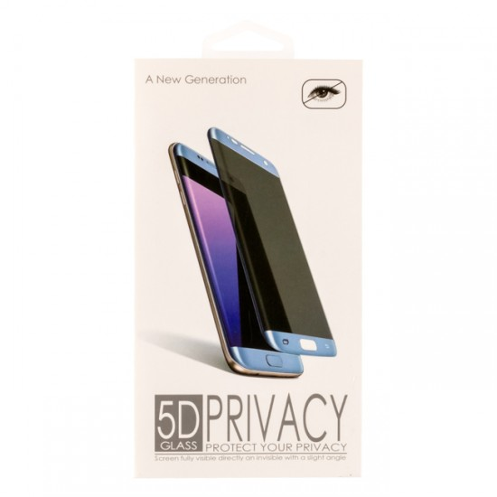 5D Privacy Glass protector for display MBX tempered glass with full glue - iPhone X / XS, Black