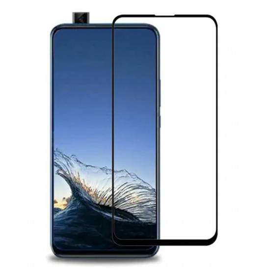 Glass Protector for display MBX 5D tempered glass with full glue - Huawei P smart Pro 2019, Black