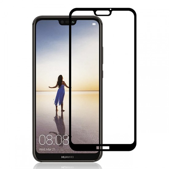 3D / 5D Glass Protector for display MBX tempered glass with full glue - Huawei P20 Lite, Black