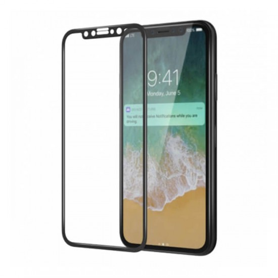 3D / 5D Glass Protector for display MBX tempered glass with full glue - iPhone X / XS, Black