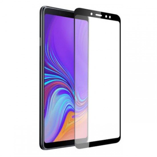 3D / 5D Glass Protector for display MBX tempered glass with full glue - Samsung Galaxy A9 (2018), Black