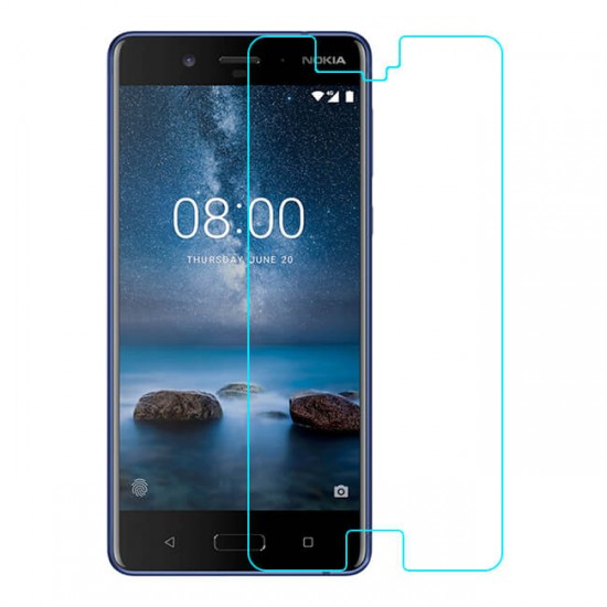 Glass protector for display MBX tempered glass - Nokia 8, Transparent