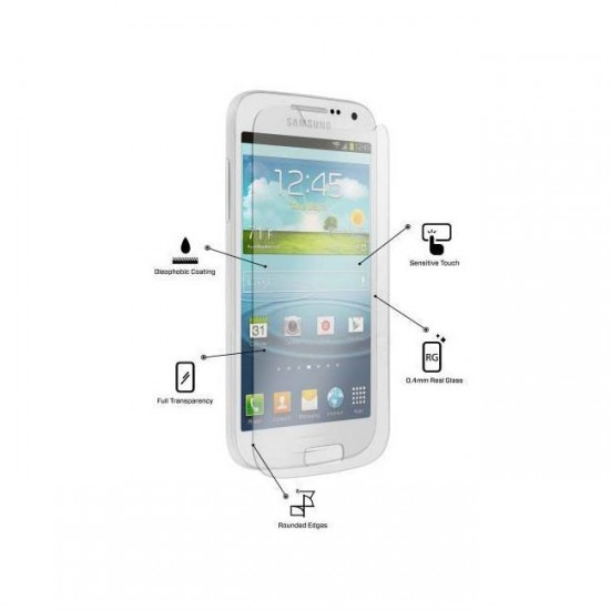 Glass protector for display MBX tempered glass - Samsung i9190 Galaxy S4 mini, Transparent