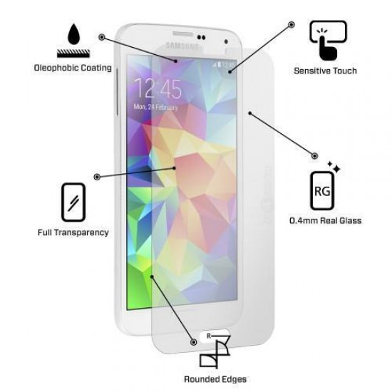 Glass protector for display MBX tempered glass - Samsung i9500 Galaxy S4, Transparent