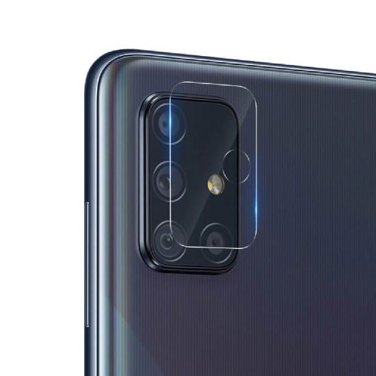 Стъклен протектор за задна камера MBX за Samsung A715F Galaxy A71, Прозрачен