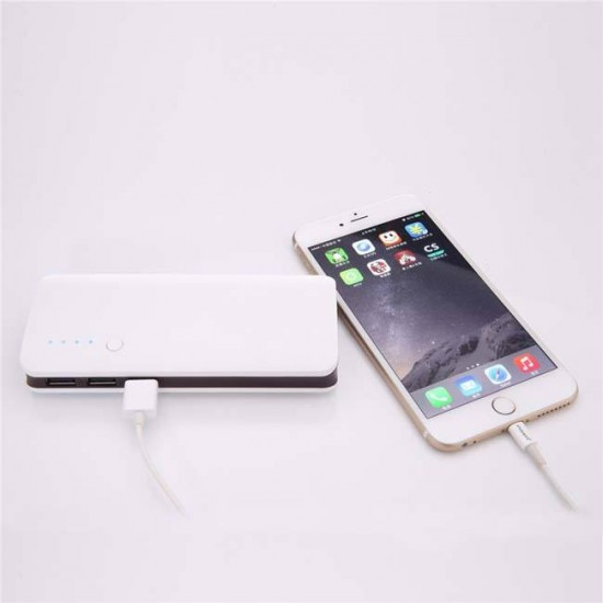 External Battery Power Bank bSmart 20000 mAh with 3 USB outputs, White with black