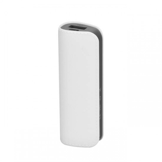 Външна батерия Power Bank MBX Leather 2600 mAh, Бял