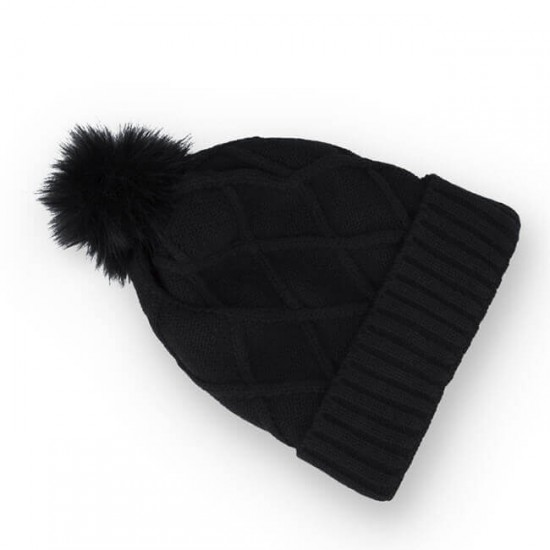 Зимна шапка със слушалки Forever, Черен